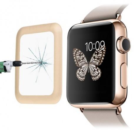 0.2mm 8-9H Metaal Full-covered Tempered Glas Voor Apple Watch 42mm Zwart
