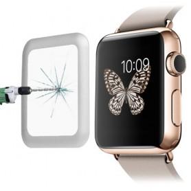 0.2mm 8-9H Metaal Full-covered Tempered Glas Voor Apple Watch 42mm Zilver