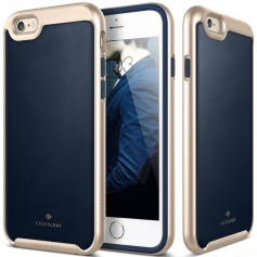 Caseology® Envoy Series iPhone 6S / 6 Leather Navy Blue + iPhone 6S / 6 Screenprotector