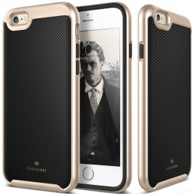 Caseology® Envoy Series iPhone 6S Plus / 6 Plus Carbon Fiber Black + iPhone 6S Plus / 6 Plus Screenprotector