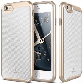 Caseology® Envoy Series iPhone 6S Plus/ 6 Plus Carbon Fiber White + iPhone 6S Plus / 6 Plus Screenprotector
