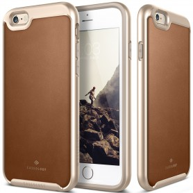 Caseology® Envoy Series iPhone 6S Plus / 6 Plus Leather Brown + iPhone 6S Plus / 6 Plus Screenprotector